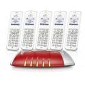 Central Telefónica Analógica, RDIS, IP com 5 Telefones C6