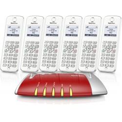 Central Telefónica Analógica, RDIS, IP com 6 Telefones C6